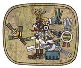 Ancient petroglyph depicting a man — Stock Vector