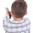 Boy with toy gun - Stock Photo