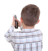 Boy with toy gun — Stock Photo