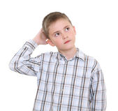 Thoughtful boy — Stock Photo
