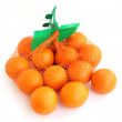 Two kilograms of oranges in grid. — Stock Photo #10228449