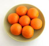 Six ripe oranges — Stock Photo