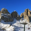 Mountains Sassolungo in Dolomiti, Italy — Stock Photo