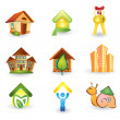 Real Estate -  Icon Set - Stock Vector