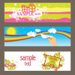 Three vector cards - Stock Vector
