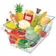 Shopping basket — Stock Photo #9219154