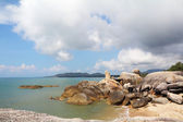 Coastal rocks of the Koh Samui — Stock Photo
