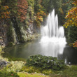 Stock Photo: Magnificent fountain in well-known Butchard-garden