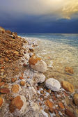 The Dead Sea in a spring thunder-storm. — Stock Photo