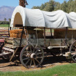 Restored antique wagon — Stock Photo