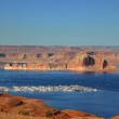Port for white yachts on Lake Powell — Stock Photo #10349650