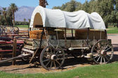 Restored antique wagon — Stock Photo