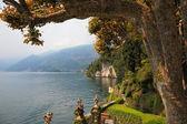 Lake Como in the mist — Stock Photo