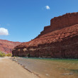 Stock Photo: Colorado River in red rocks