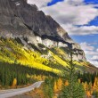Mountain road in the autumn. — Stock Photo