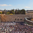 The area in front of the Western Wall in Jerusalem temple during — Stock Photo