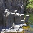 Cut basalt walls — Stock Photo