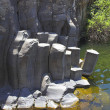 Stock Photo: Cut basalt walls