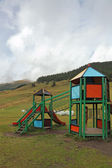 Park attractions for children in the Alps — Stock Photo