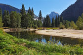 The blue water of the river in Yosemite. — Stock Photo