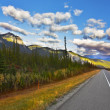 Stock Photo: The American road. Northern landscape