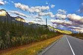 The American road. Northern landscape — Stock Photo