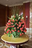 Elegant vase with flowers — Stock Photo