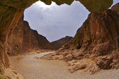Dramatic Black canyon in Israel — Stock Photo