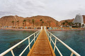 The wooden pier on Red sea — Stock Photo