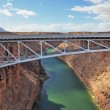 Stock Photo: Easy metal bridge through river Colorado