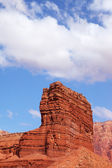 Strange cliffs of red sandstone — Stock Photo