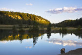 The well-known Cascade lakes. Sunrise — Stock Photo