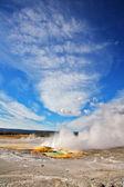 间歇泉和热的来源在黄石国家公园. — 图库照片