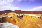 Pittoreska gamla berg och canyon om döda havet — Stockfoto