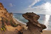 Freakish rocks on coast of Mediterranean sea — Stock Photo