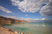 The lighting effects on the Dead Sea — Stock Photo