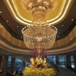 Magnificent huge luster in a lobby of hotel in China — Stock Photo #9769809