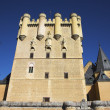 The central tower of an ancient Spanish palace — Stock Photo