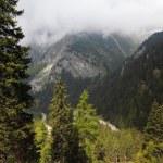 The road-Serpentine. Italy, Dolomites — Stock Photo #9876728