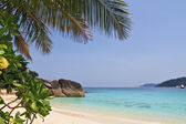 A beach in the picturesque Similan Islands — Stock Photo