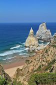 Coast of Portugal. The rocks, similar to ice cream. — Stock Photo