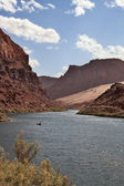 The Colorado river in abrupt coast — Stock Photo