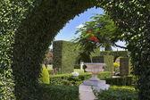 Charmig grönt och mysiga park — Stockfoto