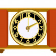 Retro alarm clock on white background, vector illustration — Stock Vector