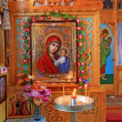 Interior rural orthodox christian church — Stock Photo