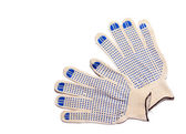 Worker glove on white background — Foto Stock