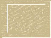 Handwritten text on old paper, vector illustration — Stock Vector