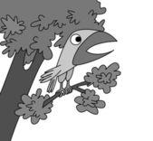 Oiseau dessin sur fond blanc, illustration vectorielle — Vecteur