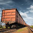 Cargo railway coach — Stock Photo