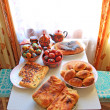 Peaster table in rural house - Stock Photo